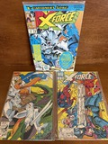 3 Issues X Force Comic #4 #6 & #17 Marvel Comics 1991 & 1992 Spiderman Cable