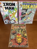 3 Issues Iron Man Comic #104 #130 & #211 Marvel Comics Bronze Age Comics
