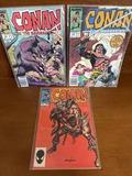 3 Issues Conan The barbarian Comic #163 #208 & #224 Marvel Comics Bronze Age