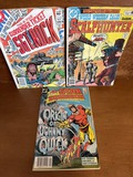 3 Issues Sgt Rock Comic #370  Weird Western Tales Scalphunter Comic #64 & All Star Squadron Comic #6