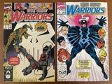 2 Issues The New Warriors Comic #6 & #7 Marvel Comics Black Bolt Inhumans The Watcher Star Thief