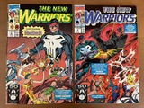 2 Issues The New Warriors Comic #8 & #9 Marvel Comics The Punisher