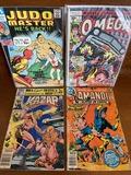 4 Issues Kamandi #59 Kazar #8 Judo Master #94 Omega #7 DC Marvel Modern Bronze Age