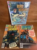 3 Issues Men of War #15 The Unknown Soldier #233 Boris Karloff Tales of Mystery DC Gold Key Bronze A