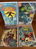 4 Issues Unexpected #213 The Witching Hour #73 Ghosts #104 & Weird War Tales #92 DC Comics Bronze Ag