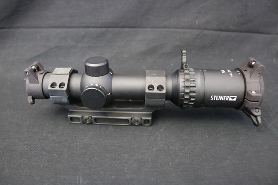 Desirable Steiner P4Xi 1-4x24mm Rifle Scope with MI quick mount