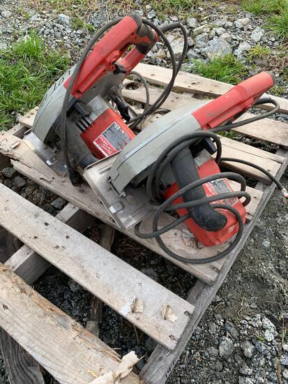 (2) Milwaukee Steel Cutting Saws