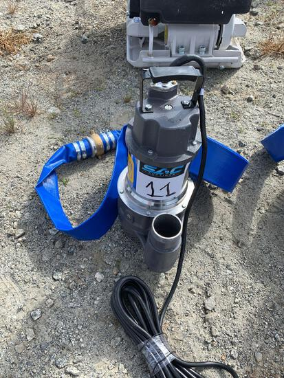 New Mustang MP 4800 2IN Submersible Pump W/ New 2? x 50 ft. discharge water hose