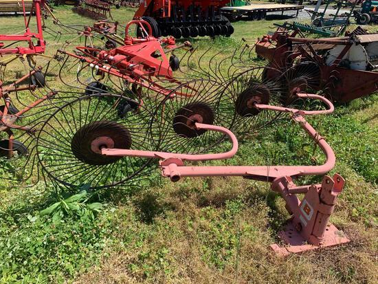 3PT 4 Wheel Rake