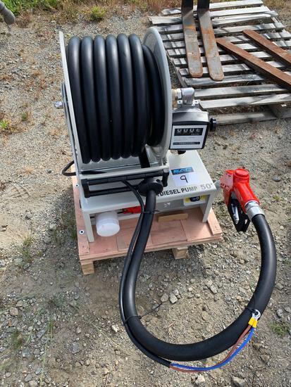 New 50FT diesel fuel reel with HD 12v pump