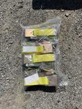 New 4 pack 10,000 Lb ratchet cargo straps
