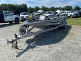 1984 Bass Hawk Fiberglass Fishing Boat