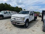 2018 Ford F250XL 4x4 Crew Cab Flatbed Truck