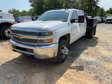 2019 Chevy 3500 HD 4x4 Crew Cab 9Ft Flat Bed