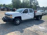 2016 Chevy 3500 HD 4x4 Crew Cab Flat Bed Truck