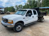 1999 Ford F-350 Crew Cab 4X4 S/A Dump Truck