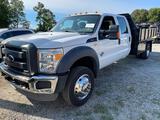 2012 Ford F450 Super Duty 6.7L PowerStroke Crew Cab Flat Bed Dump Dually