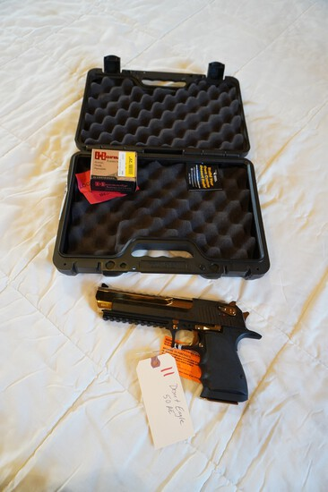 Desert Eagle 50AE with Box of Shells