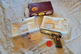 Colt National Gold Cup Match .45 Auto - Hand Engraved -  w/Box & Contents