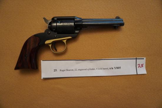 Ruger Bearcat 22 Engraved Cylinder