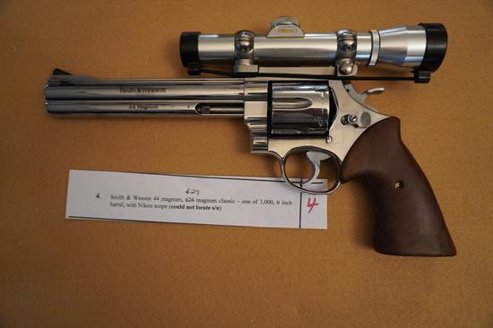 Smith and Wesson Revolver 44 Magnum 629 Magnum Classic