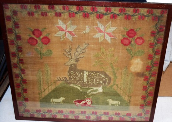 Original 1800's Embroidered Sampler