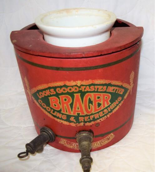 "Early ""The Bracer"" Drug Store bottle cooler"