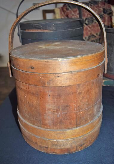 19th Century Firkin Bucket - signed