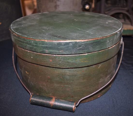 19th Century painted Firkin Bucket