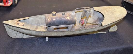 "Early German ""Weedon"" Steam powered boat"