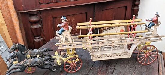 Kenton CI Horse Drawn Fire Ladder Wagon