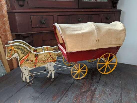 Early Gibbs Mfg Gypsy Wagon #57
