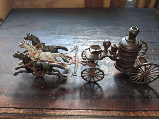 Kenton CI Horse Drawn Fire Pumper Wagon