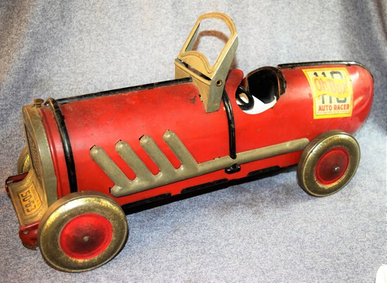 1920's Pressed Steel Auto Racer Toy