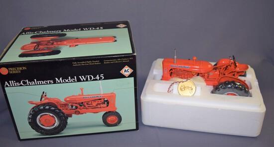 Precision Series #7 Ertl  1/16 scale Allis Chalmers Model WD 45 Tractor #13101 - 2001 No booklet