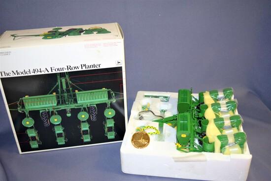 Precision Classics #9 Ertl John Deere Model 494-A 1/16 Scale Die Cast Four Row Planter #5838 - 1995