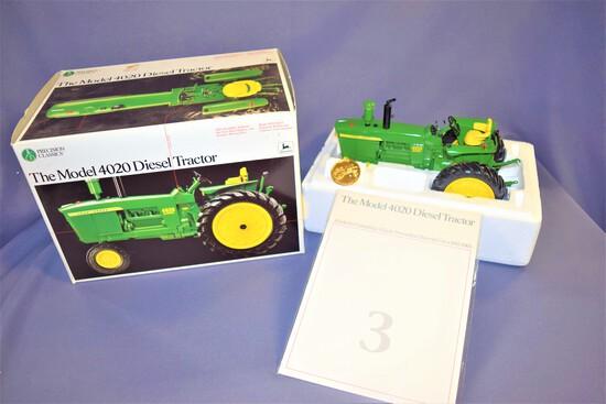 Precision Classics #3 Ertl John Deere Model 4020 1/16 Scale Die Cast Diesel Tractor #5638 - 1992
