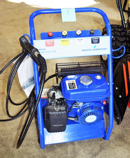 Pacific Hydrostar 4 hp gas pressure washer model 98444