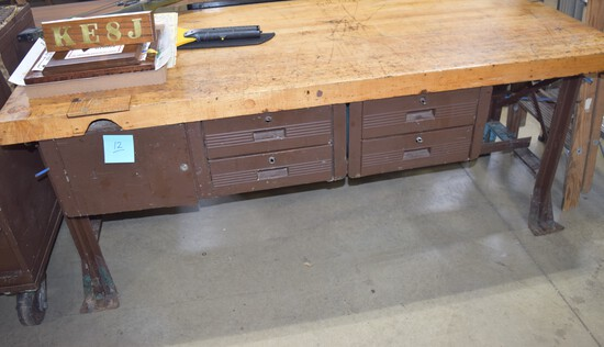 Work Bench with Tool Drawers
