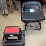 Craftsman workshop stool on wheels