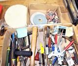 Miscellaneous box lot w/ tools