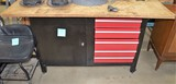 Work Bench with tool box area
