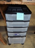 5 drawer plastic bin