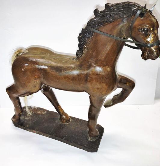 "CONTEMPORARY WOODEN HORSE (20""X15"")"
