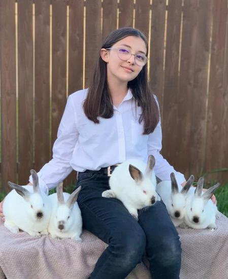Pen of 3 Rabbits - Nicole Lauer - Spring FFA