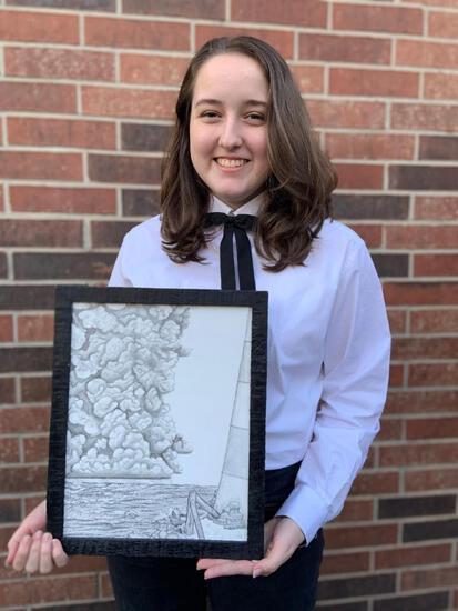 A&C Storm at Sea Pencil Drawing - Abigail Clark - Spring 4-H