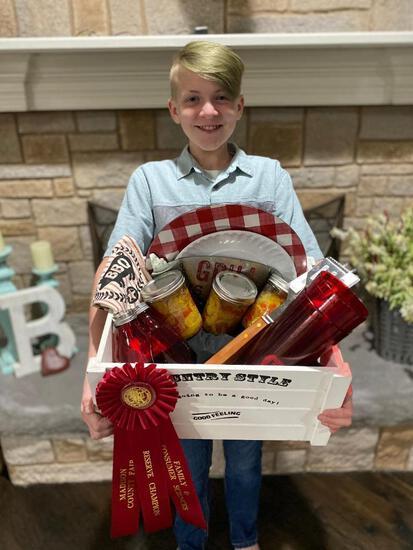Reserve Champion - Food Preservation - Zack Bracewell - Archery Club