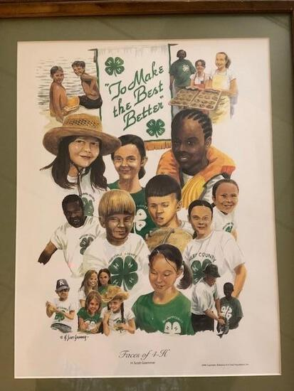 """The Faces of 4-H"" framed print"