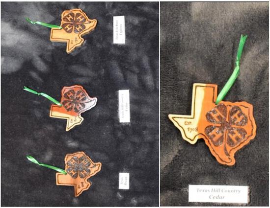 Handmade 4-H ornaments