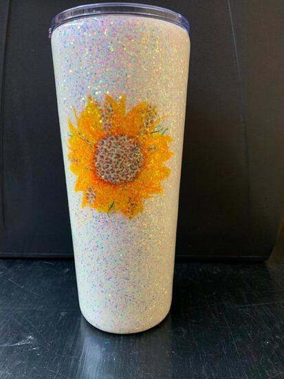 20 oz Tumbler-Sunflower